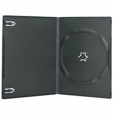 200 New Single Standard 14mm Regular Black DVD Case CD [Fedex Ground Fast Ship]