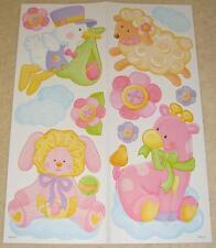 CICOGNA ROSA TEDDY giraffa Adesivi Murali Baby Nursery per bambini ragazze Decalcomanie