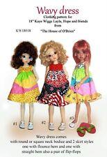 KW18018 Wavy Dress & shoes pattern for Kaye Wiggs, Layla, Hope & friends, MSD