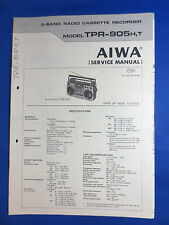 AIWA TPR-905 CASSETTE RADIO SERVICE MANUAL ORIGINAL GOOD CONDITION