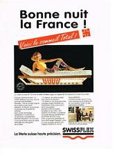 PUBLICITE ADVERTISING   1993   SWISSFLEX   matelas literie