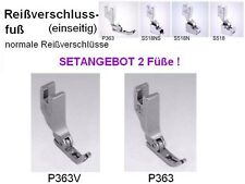 2x Reißverschluss- Nähfuß für Nähmasch. P363 + P363V, SET: 2 beidseitige RV Füße