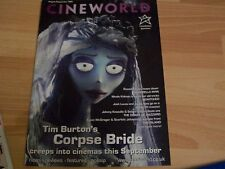 PROMOTIONAL CINEWORLD FILM MAGAZINE features THE CORPSE BRIDE / BEWITCHED /