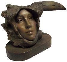 One Song Original Female Woman Cameo Face Toucan Fantasy Sculpture Rick Cain