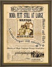 Boba Fett Harry Potter mash up art print on premium parchment 8x10
