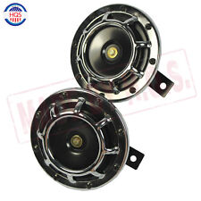 Chrome SUPER LOUD COMPACT ELECTRIC BLAST TONE HORN CAR/TRUCK/SUV 12V HORN 335HZ
