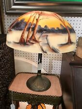 Handel signed lamp with reverse painted shade