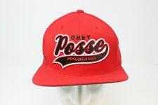 Obey Propaganda the Posse Red Snapback Adjustable Baseball Cap
