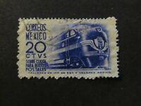 1951 - MEXICO - STREAMLINE LOCOMOTIVE - SCOTT Q8 PP2 20C