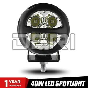 "1X 3"" 40W LED Work Light Round Bar Spot Flood Combo Pods Driving Fog Offroad ATV"