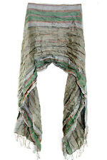 ELEGANT LADIES GREEN / COLORFUL EMBROIDERY STRIPED LADIES WINTER SCARF(MS21)