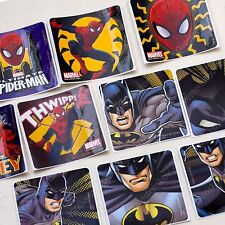 smilemakers Batman & Spiderman Stickers 10 sheets