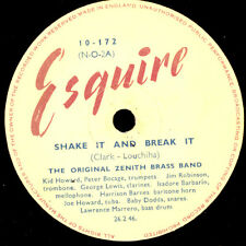 ORIGINAL ZENITH BRASS BAND  Shake it and break it / Fidgety feet   78rpm   X2276