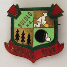 Bulolo New Guinea PNG Bowling Club Badge Rare Vintage (M7)