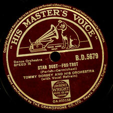 Tommy Dorsey & his Orch. Star Dust/Swanee River gomma lacca PIASTRA 78rpm x3153