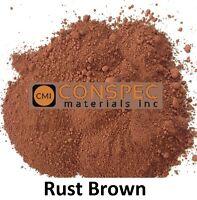10 lbs RUST BROWN Concrete Colors Pigment Dye Cement Powder Mortar Grout Plaster