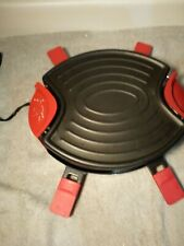 TRUDEAU RACLETTE MAKER----4 PERSON--RED---MODEL 082-3003---FREE SHIP--VGC