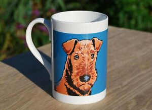 Airedale Porcelain single mug