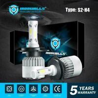 Pair H4 HB2 9003 LED Car Headlight Kit Hi/Lo Beam Light Bulbs 6500K 72W 8000LM