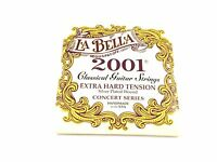 La Bella Guitar Strings  Extra Hard Tension  Silver Plated  Classical  2001