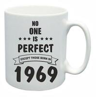 50th Novelty Birthday Gift Present Tea Mug No One Is Perfect 1969 Coffee Cup