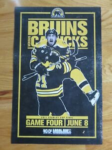 2011 STANLEY CUP Champions BOSTON BRUINS GAME 4 Poster BRAD MARCHAND