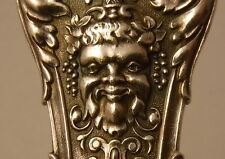 ANTIQUE BRUCKMANN & SOHNE GERMANY 800 silver FIGURAL ICE CREAM SLICE BACCHUS