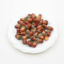 50pcs Artificial Lifelike Acorn Decor Fake Fruit Home Party Decoration Props