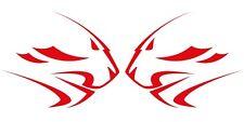 Aprilia Leones Funda Motocicleta gráficos Stickers Calcomanías X 2 Piezas Grande Rojo