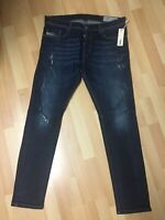 NWT MENS Diesel TEPPHAR ULTRA SOFT STRETCH Denim R844T DARK BLUE Slim W34 L32 H6
