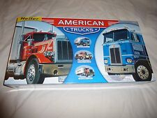 Heller 1:43 American Trucks (Peterbilt & Kenworth Trucks, 2 Trailers, & Wrecker)