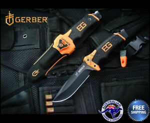 Genuine Gerber Bear Grylls Ultimate Pro Survival Fixed Blade Knife Life Warranty