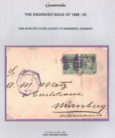 Guatemala #49 20c Pair on cover (12/13/1896) to Germany (ex Robert T Lee)