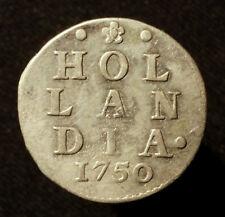 Niederlande, Provinz Holland, 2 Stüber (Dubbele Wapenstuiver) 1750, R!