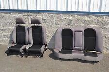 02-07 Subaru Impreza WRX Seat Assembly Set Front Rear Sedan Black Gray OEM 02-07
