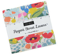 "Moda, Regent Street Lawns, 5"" Charm Pack, Fabric Quilting Squares, 33470PP, SQ69"