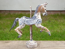 Carousel Horse Wooden Carving Ornament Statue 36cm.....