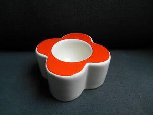 Orla Kiely Abacus Flower/Daisy Persimmon Egg Cup - VGC