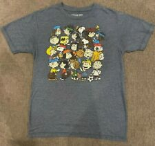 PEANUTS Snoopy Characters T-Shirt MEN'S SMALL Soft Tee Cartoon Novelty Retro Vtg