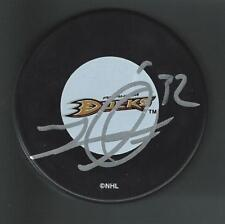 Travis Moen Signed Anaheim Ducks Puck