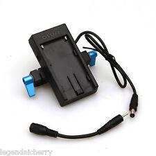 F970 Battery Mount Plate Power Supply 15mm Rod Clamp  BMPCC BMCC 4K Camera B005