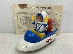 ELDON BILLY BLAST OFF FIGURE W US-6 SPACE SHIP BATTERY OPP 1968 READ DESCRIPTION