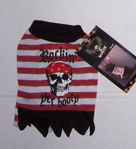 NWT Bret Michaels Pirate Dress Costume for Dogs Size XS or S Dog Pet Halloween