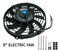 """Universal 9"""" 254mm Radiator Electric Cooling Fan Slimline Front or Rear Mounted"""