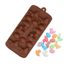 Egg Bunny Duck Silicone Soap mold Candy Chocolate Fondant Tray Easter ICE Cube