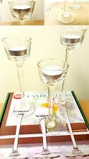 NEW 24 bulk Long-Stem Glass Tealight Candle holders