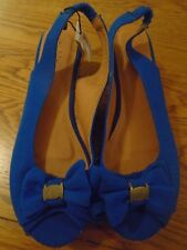 BNWT ladies / girls blue wedge shoes. M&Co. RRP £25. Size 4       (2/1)
