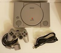 Sony PlayStation PS1 Console (SCPH-9001) Bundle Tested *Works* RFU Adaptor