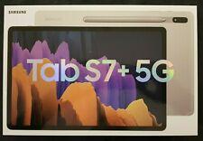 Samsung Galaxy Tab S7+ 256GB, Wi-Fi + 5G (Ohne Simlock), 12,4 Zoll - Mystic Silv