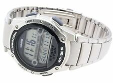 Casio Men's Digital 100m LED World Time Stainless Steel Watch W756d-1av